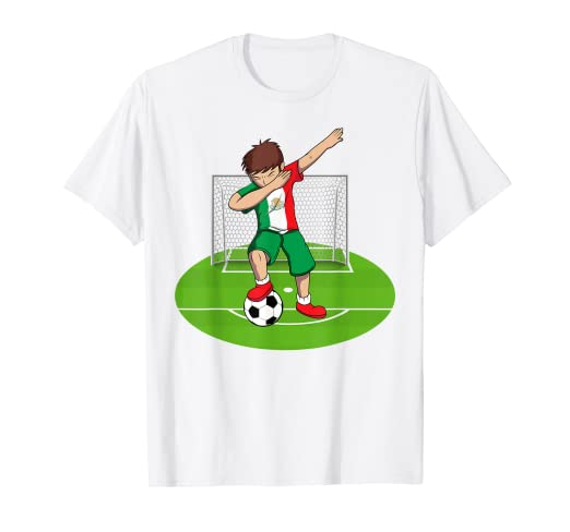 99984ebcef0 Image Unavailable. Image not available for. Color: Dabbing Soccer Boy T  Shirt | Mexico Mexican Football Boys