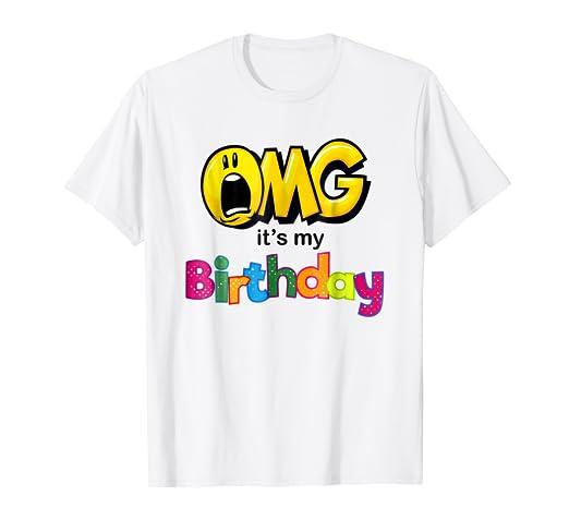 OMG Its My Birthday Emoji Shirt For Kids Women And Men
