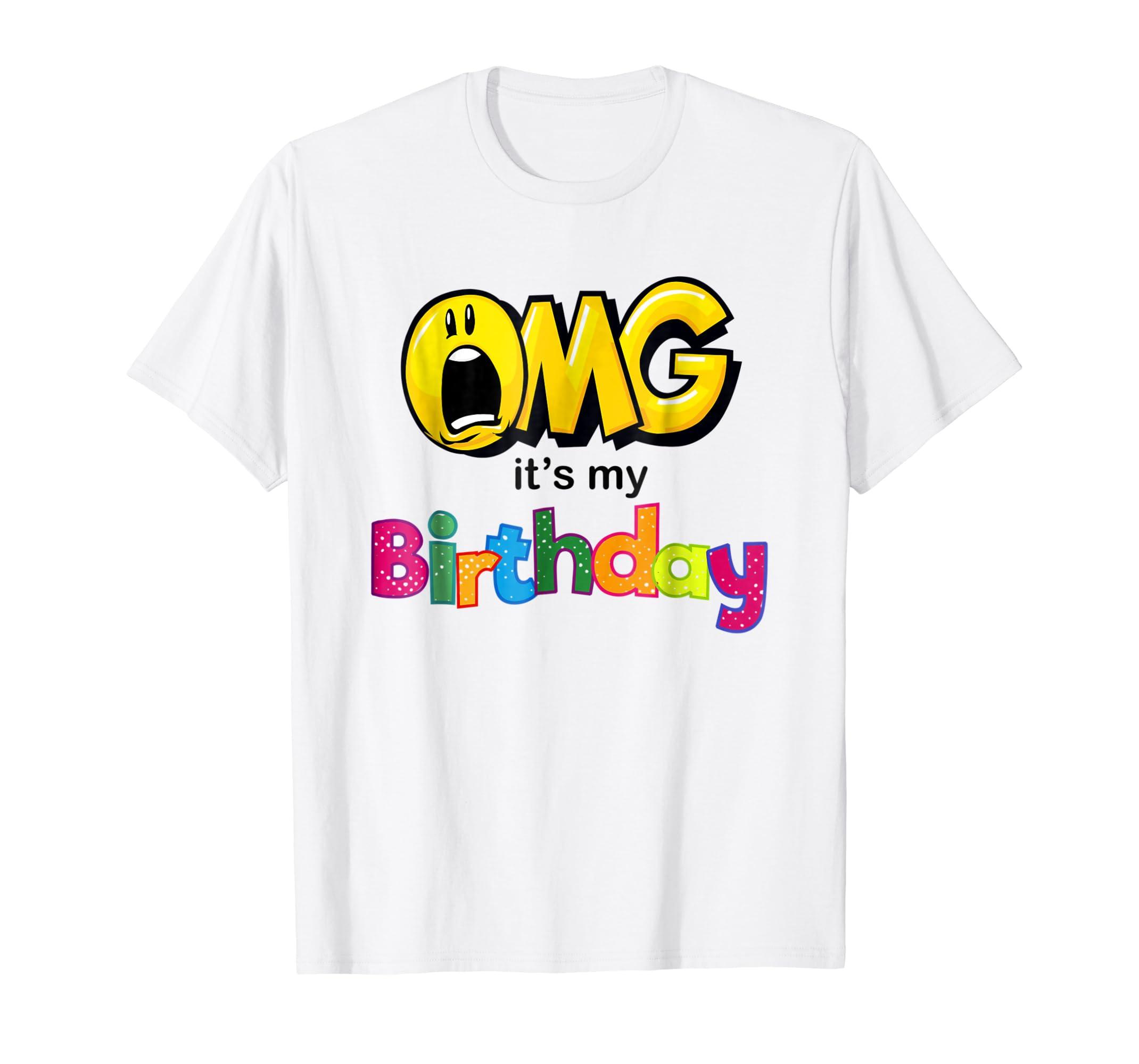 Amazon OMG Its My Birthday Emoji Shirt For Kids Women And Men Clothing