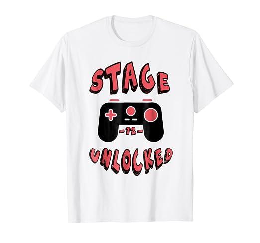 Stage 12 Year Old Unlocked Gamer Birthday Shirt