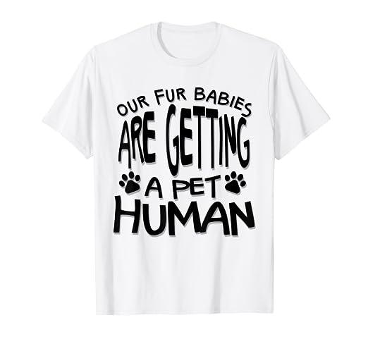 2955d722c Amazon.com: Funny Pregnancy T-Shirt - Motherhood Maternity Pet Human Tee:  Clothing