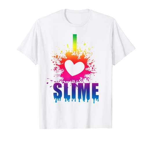 c9298a30e Image Unavailable. Image not available for. Color: I Love Slime T Shirt ...