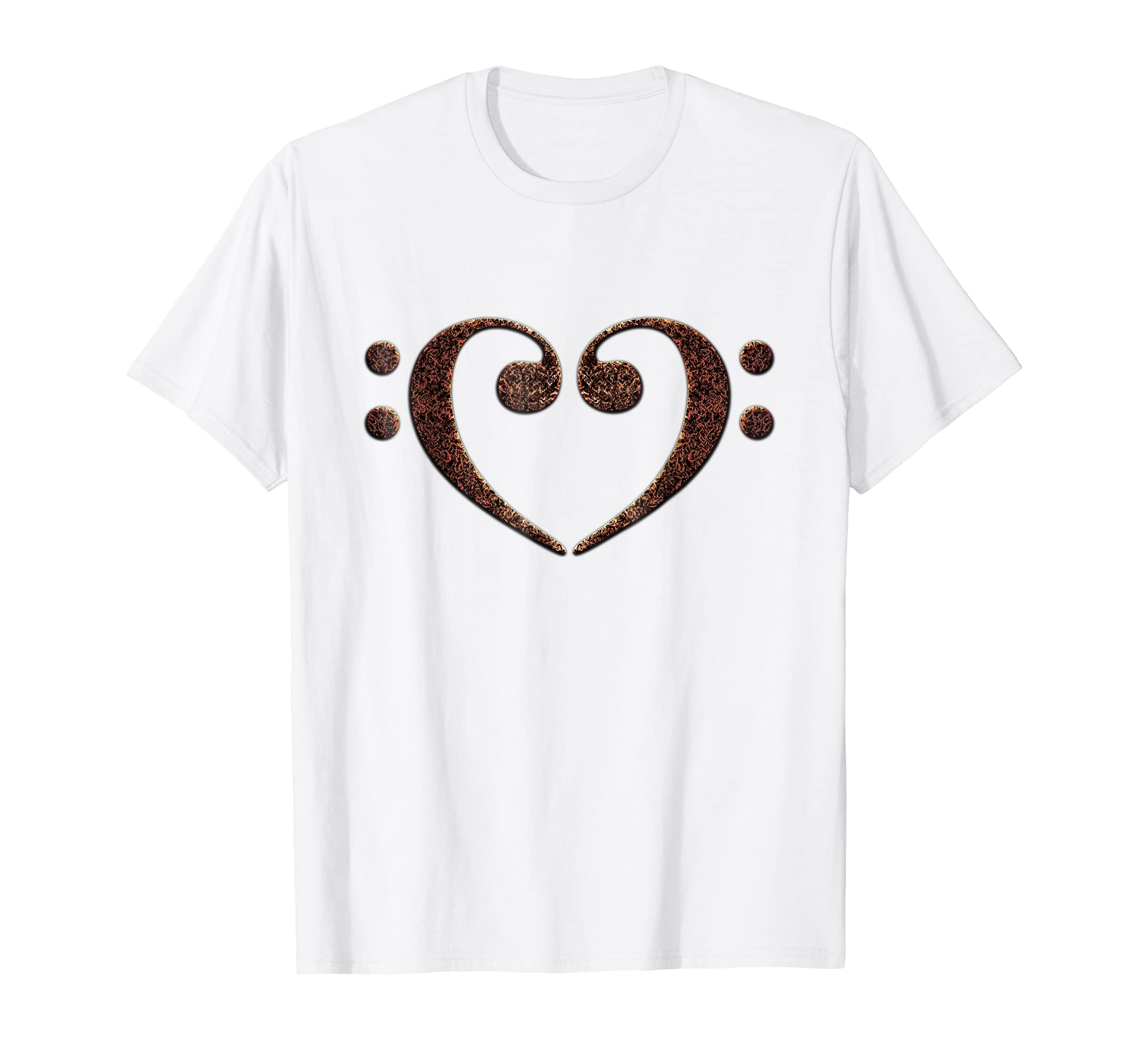Double Bass Clef Heart Music Lover Bassist T-Shirt - More Colors Available