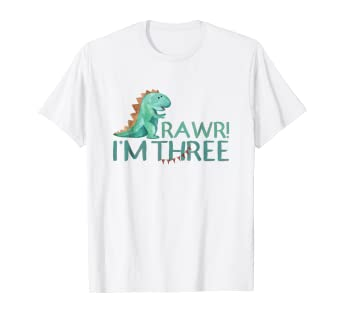 Image Unavailable Not Available For Color 3rd Birthday Shirt Boy Dinosaur Girl Age 3 Year Old Three