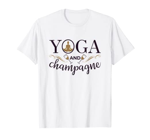 Amazon.com: Yoga And Champagne T-Shirt Gifts: Clothing