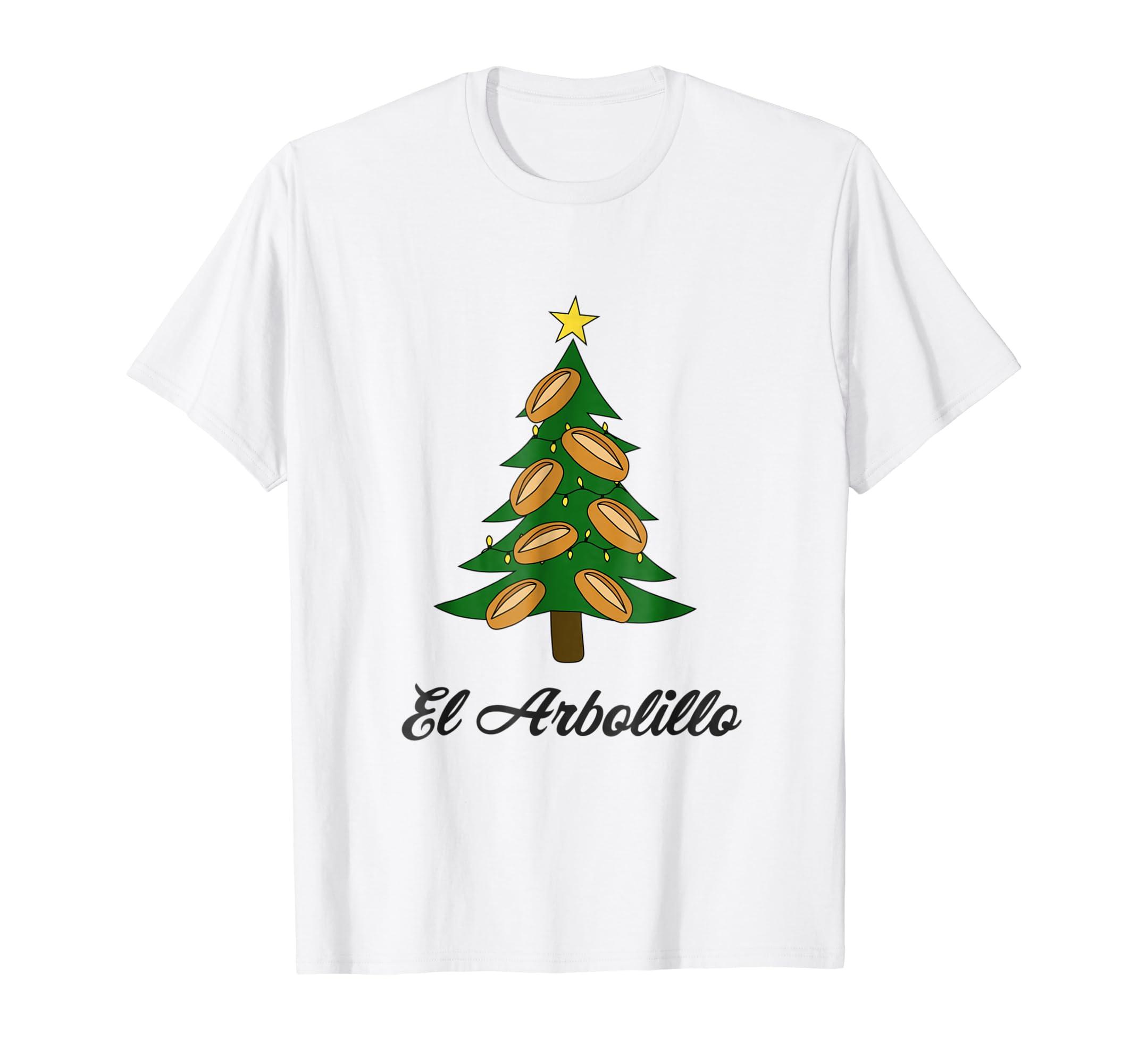 Amazon.com: Funny Bolillo Christmas Tree Arbolillo TShirt - Navidad 2018: Clothing