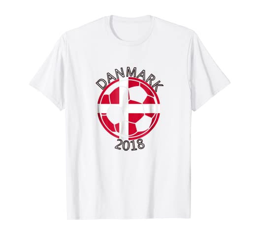 828087c39 Image Unavailable. Image not available for. Color  Danmark Denmark Danish  Soccer Team 2018 T Shirt Football