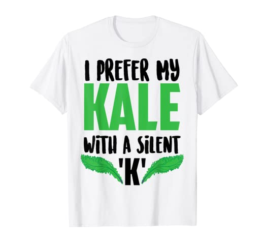 a83059452 Image Unavailable. Image not available for. Color: I Prefer My Kale With A Silent  K Tee | Beer ...