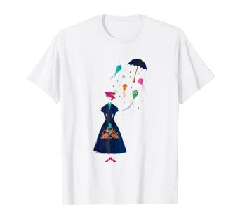 2de7d37a Image Unavailable. Image not available for. Color: Disney Mary Poppins  Umbrella T-shirt