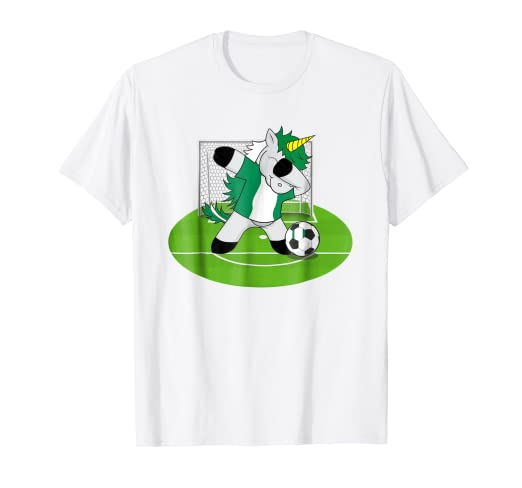 2692811f7 Image Unavailable. Image not available for. Color  Dabbing Soccer Unicorn T  Shirt Nigeria Nigerians Football