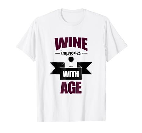 Amazon Wine Drinking Shirt Improves With Age Men Gift