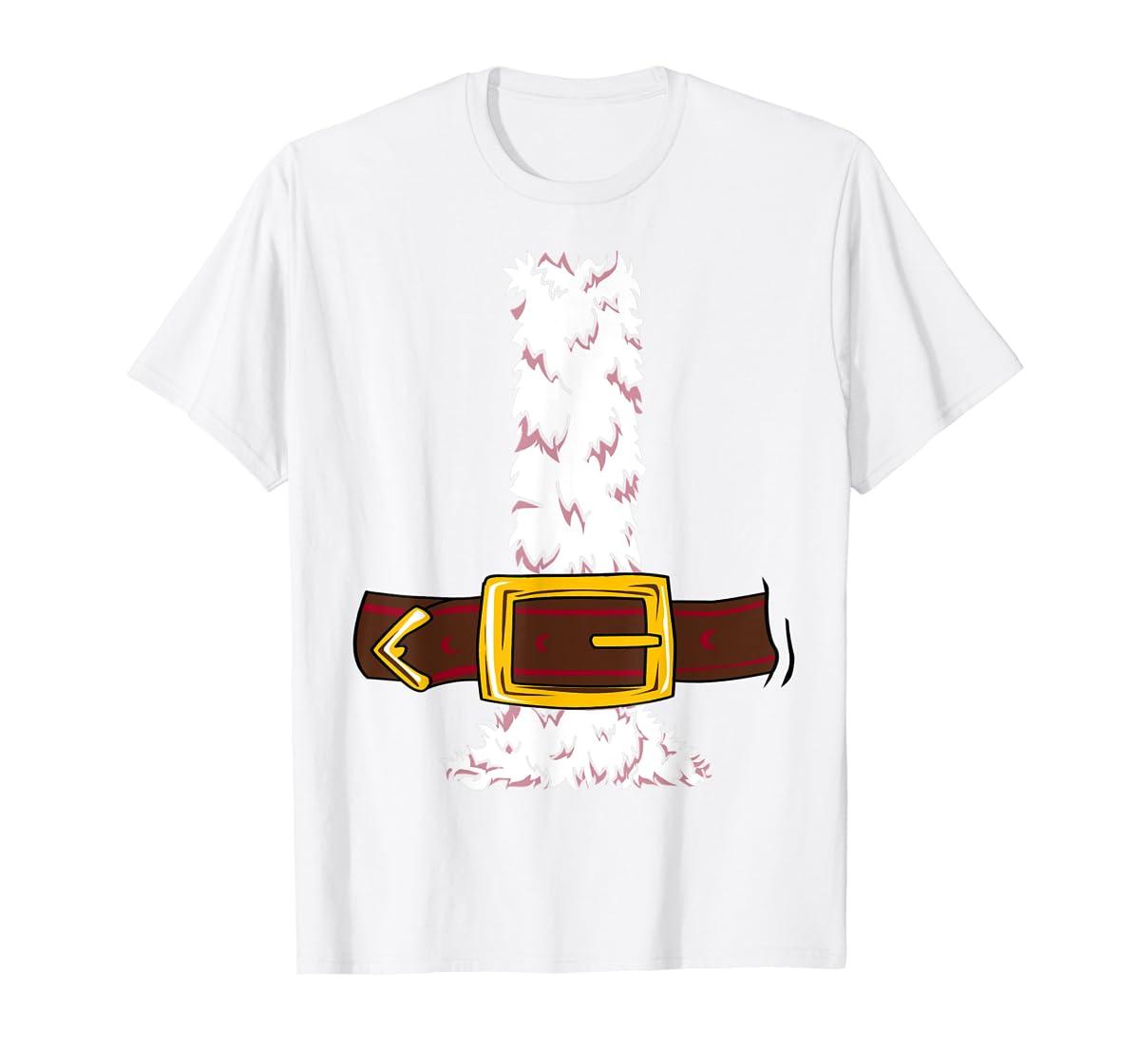 Funny Christmas gift for boys girls men women Santa costume T-Shirt-Men's T-Shirt-White