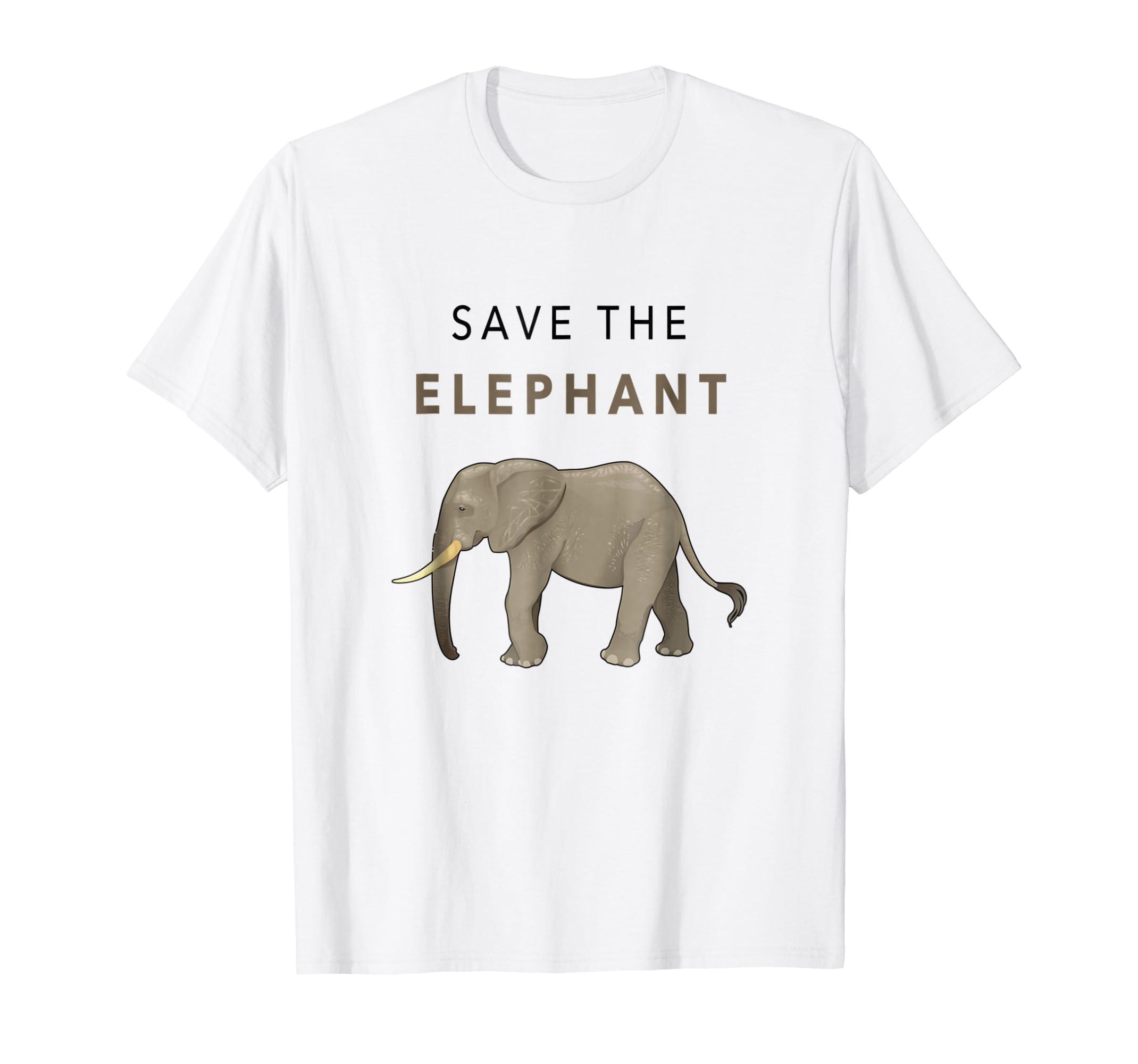 4c8e1d184 Amazon.com  Save The Elephant Shirt - Animal Rights Activist T-shirt   Clothing