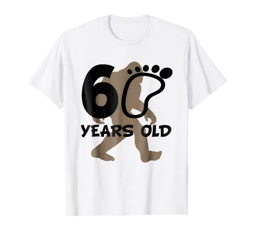 Amazon 60th Birthday Bigfoot Shirt