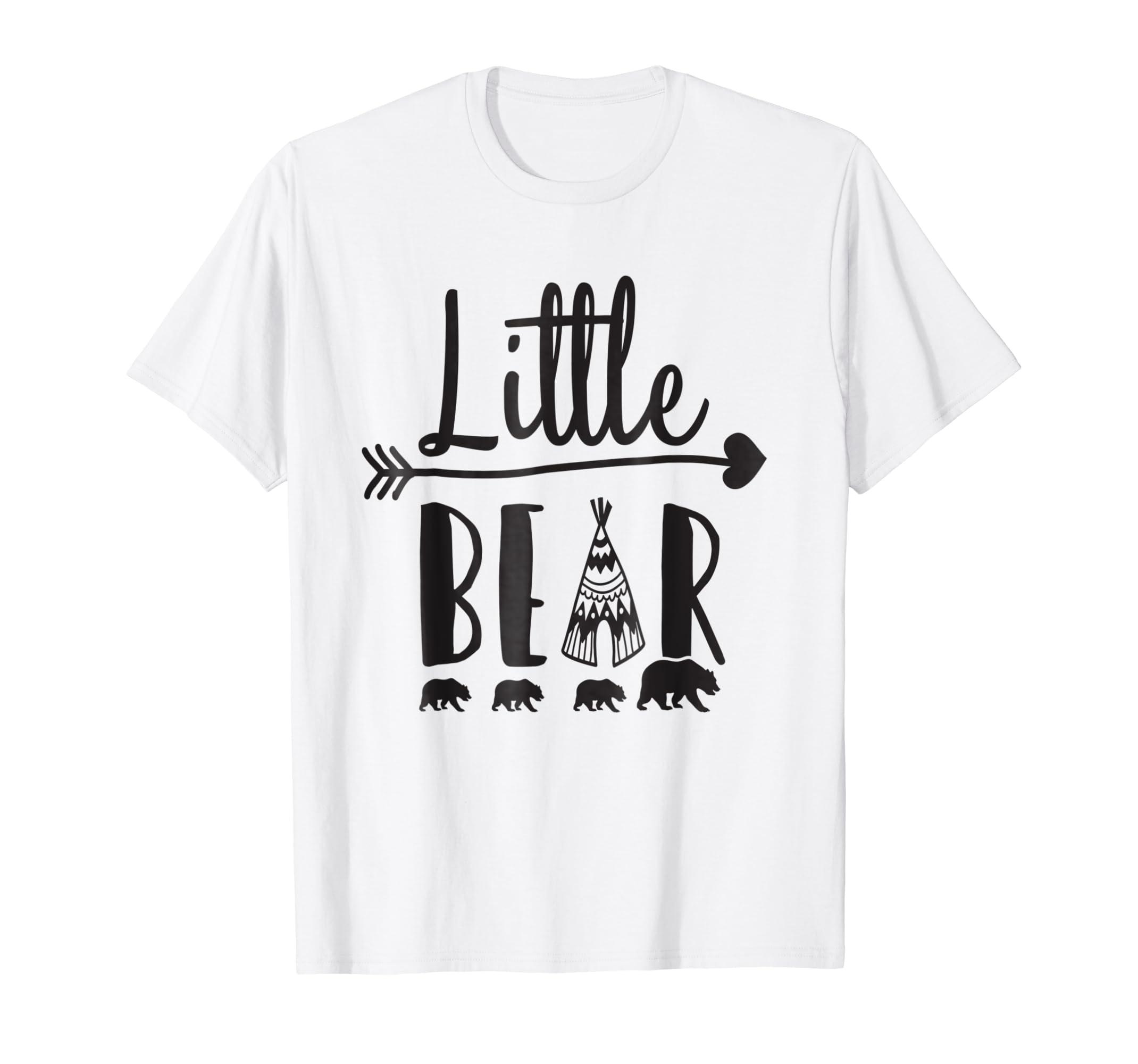 f20a47444d0 Amazon.com  Little Bear Shirt Boys Girls Son Daughter Bear Cub T-shirt   Clothing