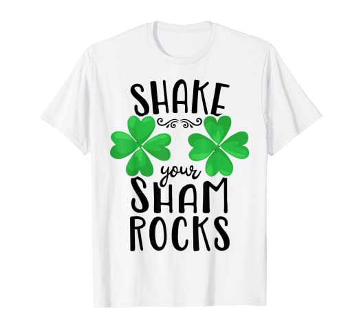 0ae97ad2b5 Image Unavailable. Image not available for. Color: Shake Your Shamrocks T  shirt St Patricks Day Women Funny Tee