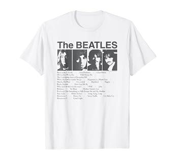b5cfd20ec52c1 The Beatles Song List T-shirt