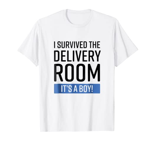 6e29b9e8 Image Unavailable. Image not available for. Color: I survived the Delivery  Room It's a Boy Funny T-Shirt