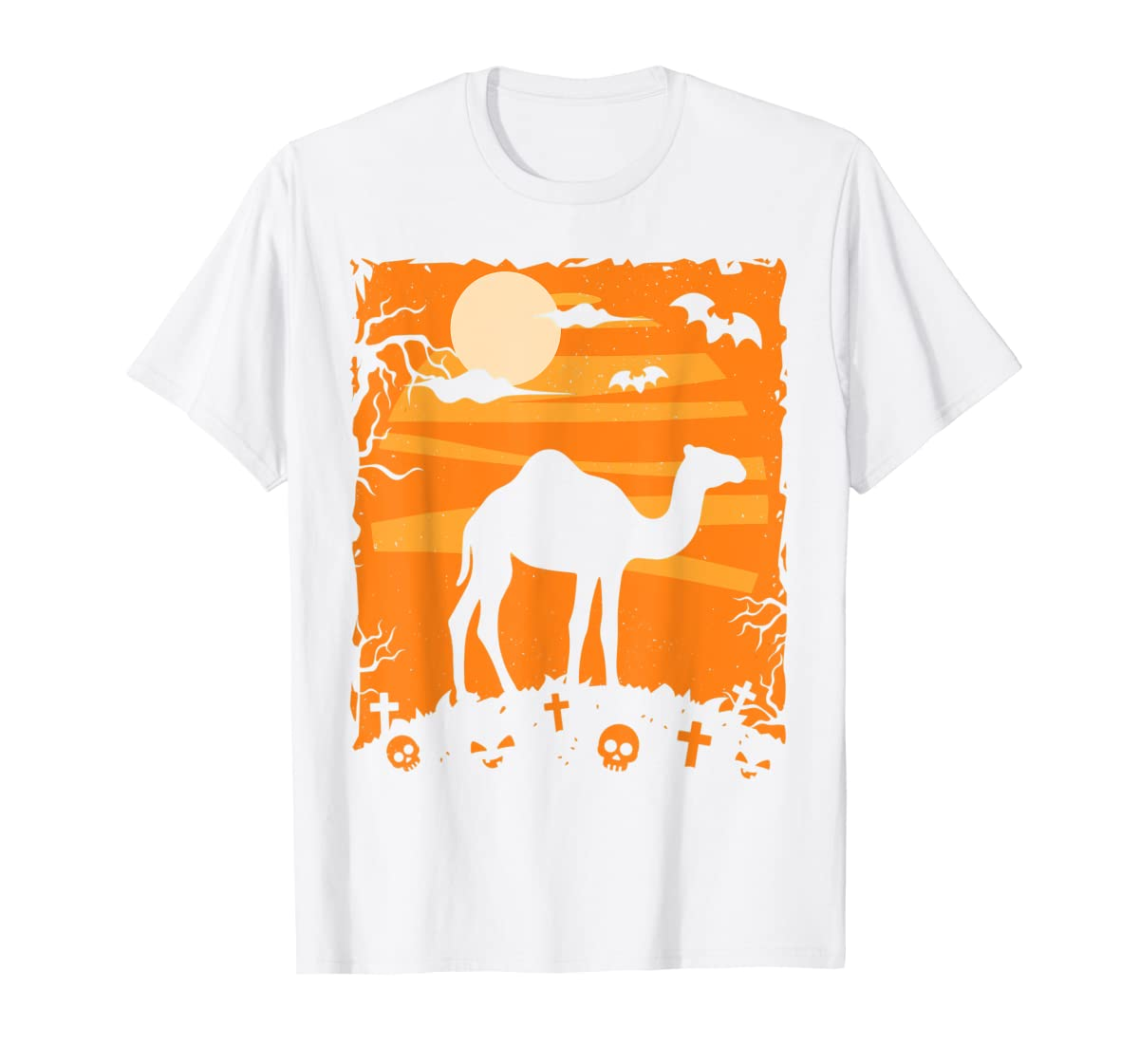 Camel Halloween Costume Animal Funny Pumpkin Outfit Gift T-Shirt-Men's T-Shirt-White