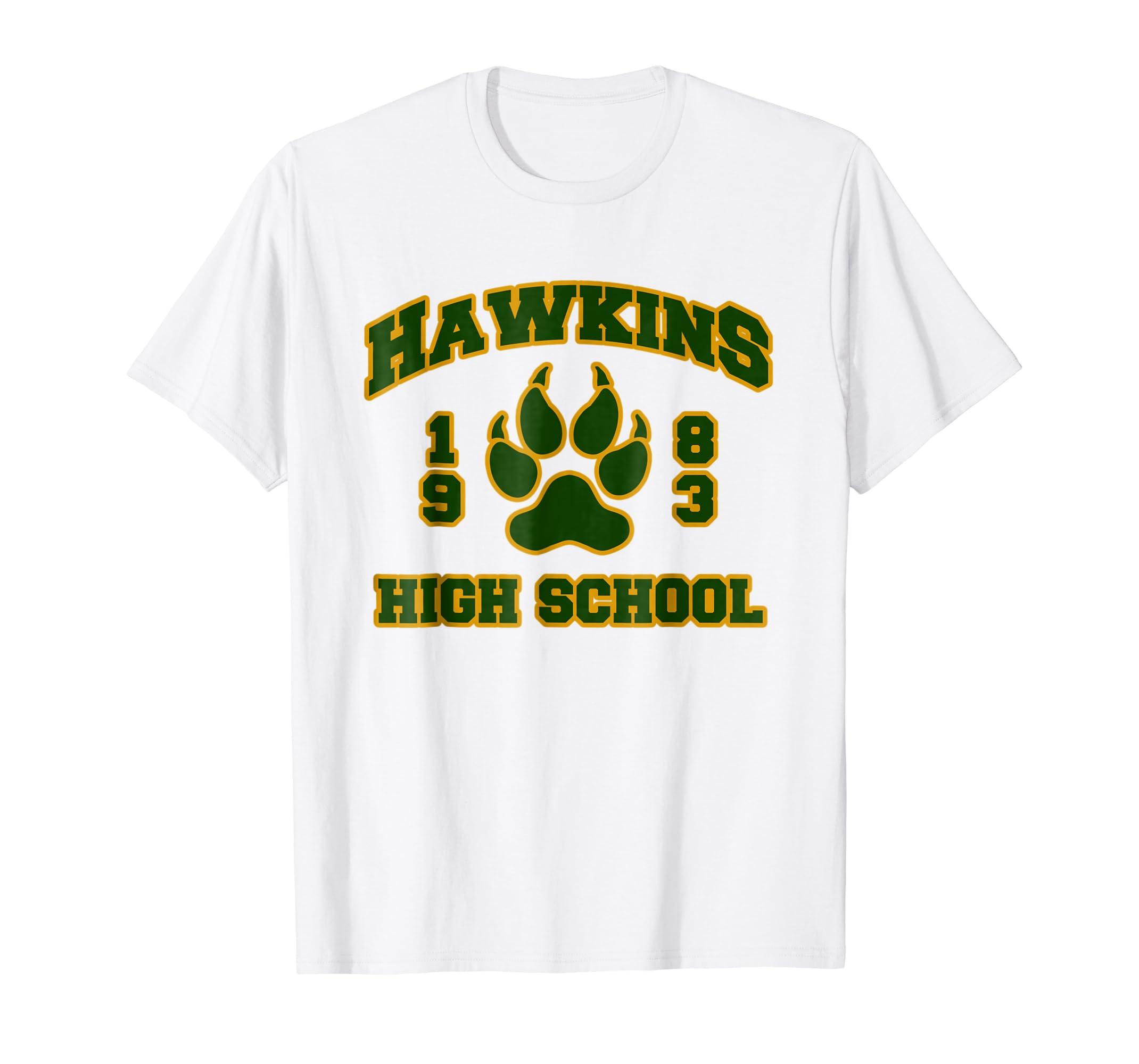 Amazon Hawkins High School Retro 80s Style School T Shirt