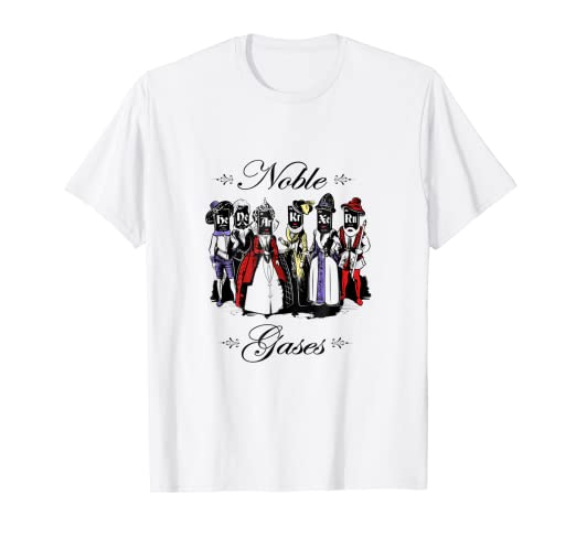 d91ae6087583 Amazon.com: Funny Science T-shirt - Noble Gases - Men & Women Science Sh:  Clothing