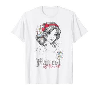 9feb048c Image Unavailable. Image not available for. Color: Disney Snow White Fairest  Of Them All Graphic T-Shirt