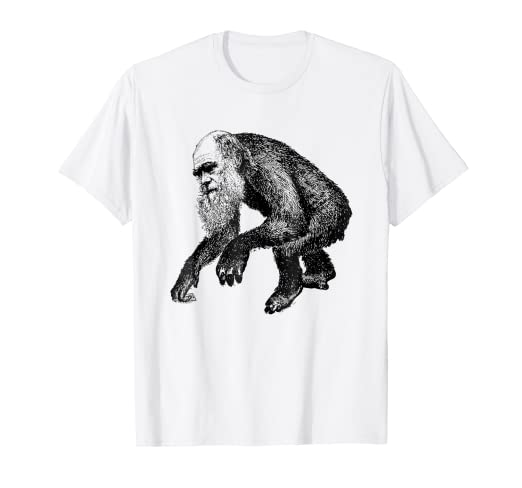 b4571c358 Image Unavailable. Image not available for. Color: Charles Darwin Shirt  Funny Evolution Monkey T-Shirt