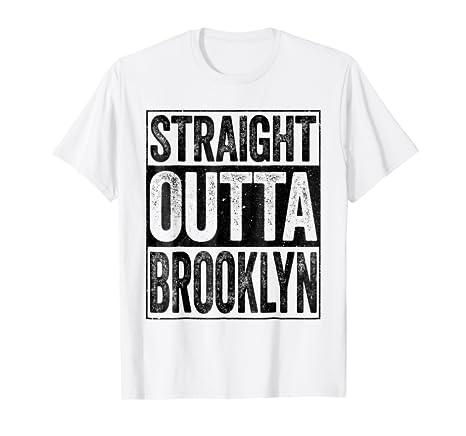 Amazon.com  Straight Outta Brooklyn T-Shirt New York Gift Shirt ... 83a01d2e2e9