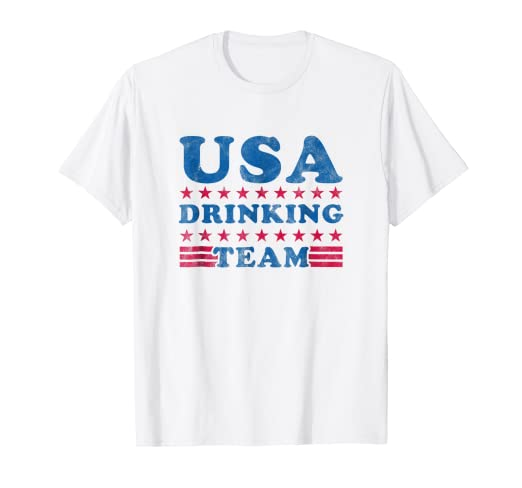 b27b6db8c Image Unavailable. Image not available for. Color: Independence Day Shirt  USA Drinking Team Funny 4th of July