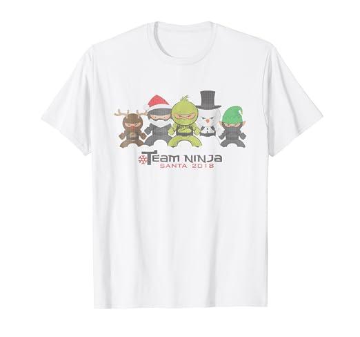Amazon.com: Funny Team Ninja Santa Ugly Christmas Sweater T ...