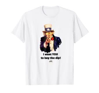 69f9d142489 Amazon.com  Hodl Gear - Uncle Sam Buy The Dip T-Shirt Gift  Clothing