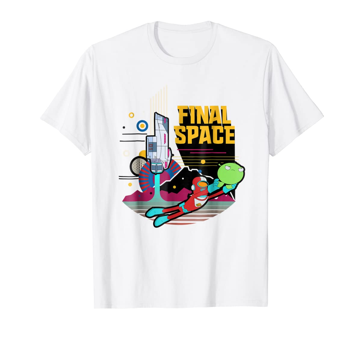 Final Space Retro Style T-shirt-Men's T-Shirt-White