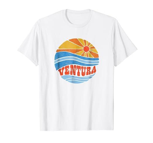 1e972071df Image Unavailable. Image not available for. Color: Retro Ventura California  Hippie Beach Bum Surf Vintage Shirt