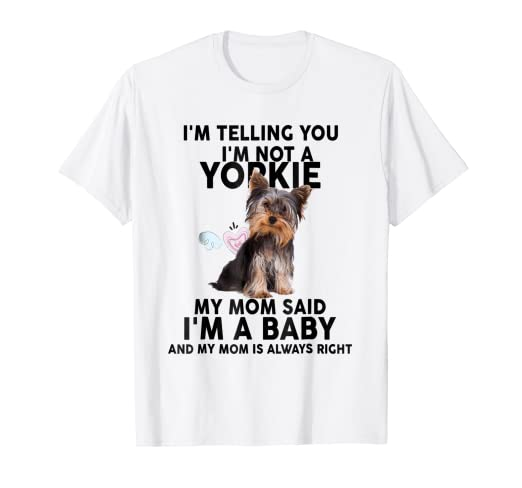 8461598e Image Unavailable. Image not available for. Color: Yorkie T-Shirt ...