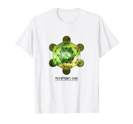 fab241f99ed7 Metatron's Cube Sacred Geometry Green/Yellow Galaxy T-Shirt