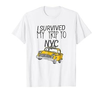 Amazon.com  I Survived My Trip To NYC T-Shirt  Clothing 9b106620928