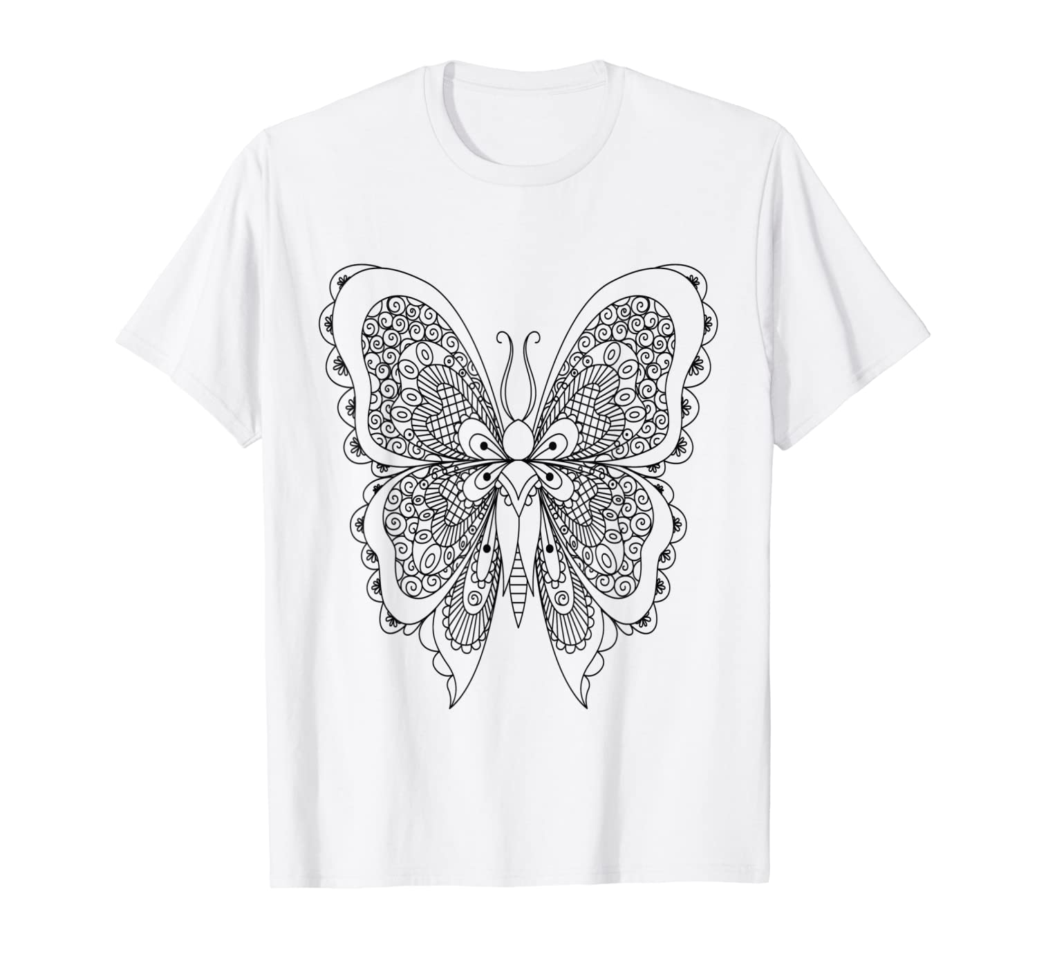 Amazon.com: Butterfly Coloring Book Style DIY Coloring T ...