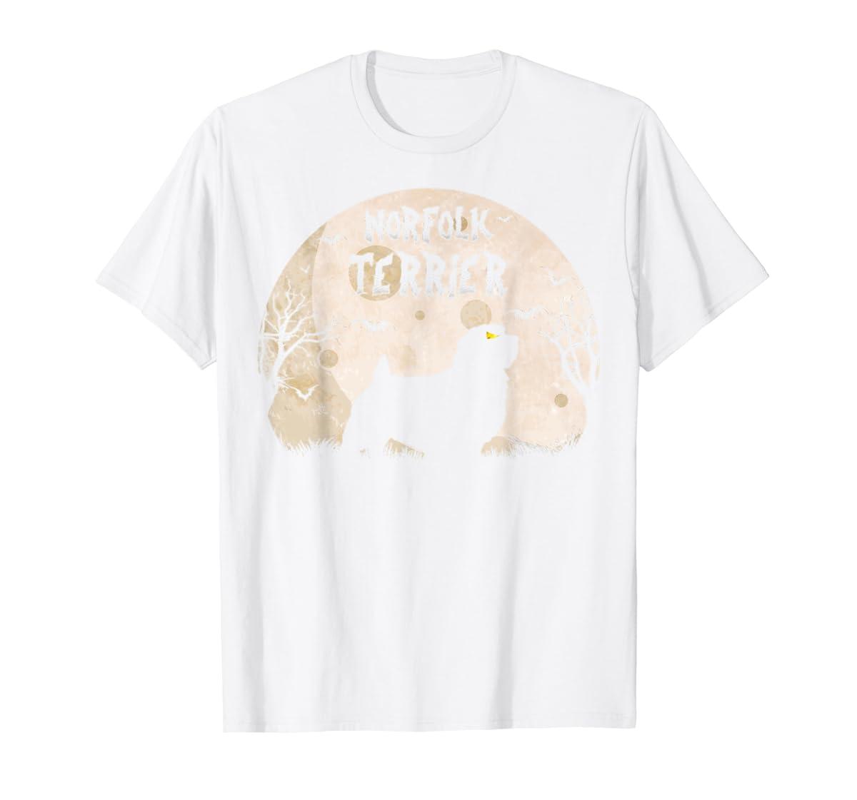 Halloween Horror Norfolk Terrier T-Shirt-Men's T-Shirt-White