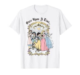 Image result for Disney Princess Once Upon A Time Vintage Cartoon T-Shirt