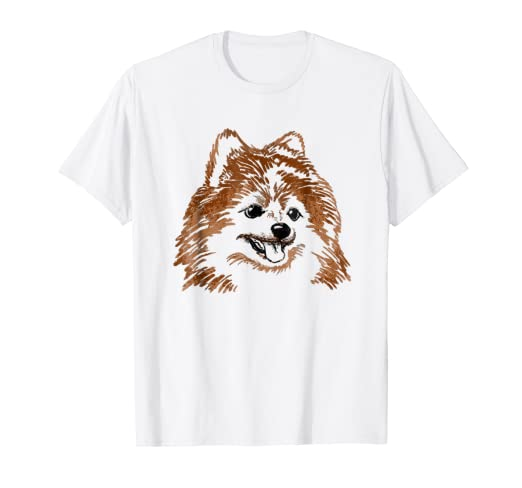 18efe712 Image Unavailable. Image not available for. Color: Pomeranian Pom Dog T- shirt ...