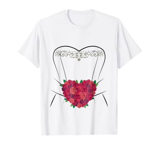 wedding dress t shirt simple marriage bridal shower gifts