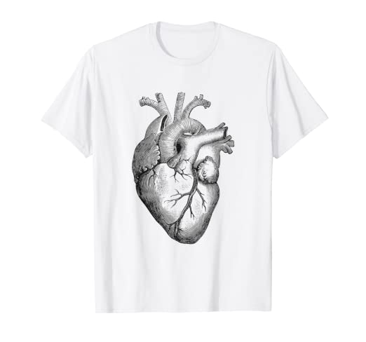 6f5cabcfc Image Unavailable. Image not available for. Color: Real Anatomical Human  Heart Drawing T-Shirt
