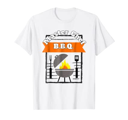 The Master Chef Summer BBQ Grill Graphic TEE Shirt