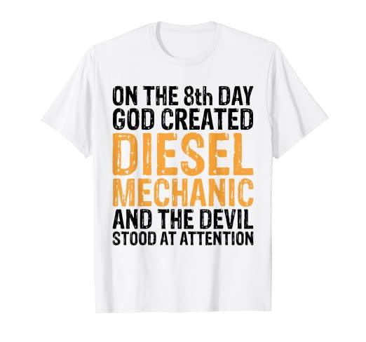 f25b6445 Image Unavailable. Image not available for. Color: Funny Shirt Diesel  Mechanic Tees Engine Cars Trucks Men Gift