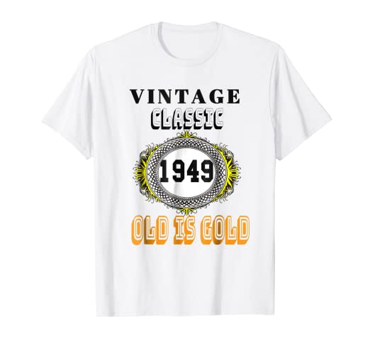 Image Unavailable Not Available For Color 1949 Classic Vintage Tee 70th Birthday T Shirt Men