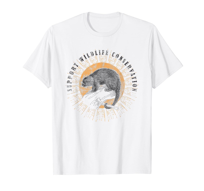 Porcupine Wildlife Conservation Animal Lover Gift  T-Shirt