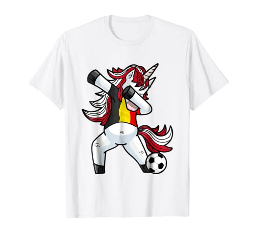 0d6f47459 Image Unavailable. Image not available for. Color  Dabbing Soccer Unicorn T Shirt  Belgium Belgians Football