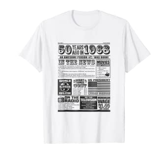 Image Unavailable Not Available For Color Back In 1968 Newspaper T Shirt 50th Birthday Custom Gift