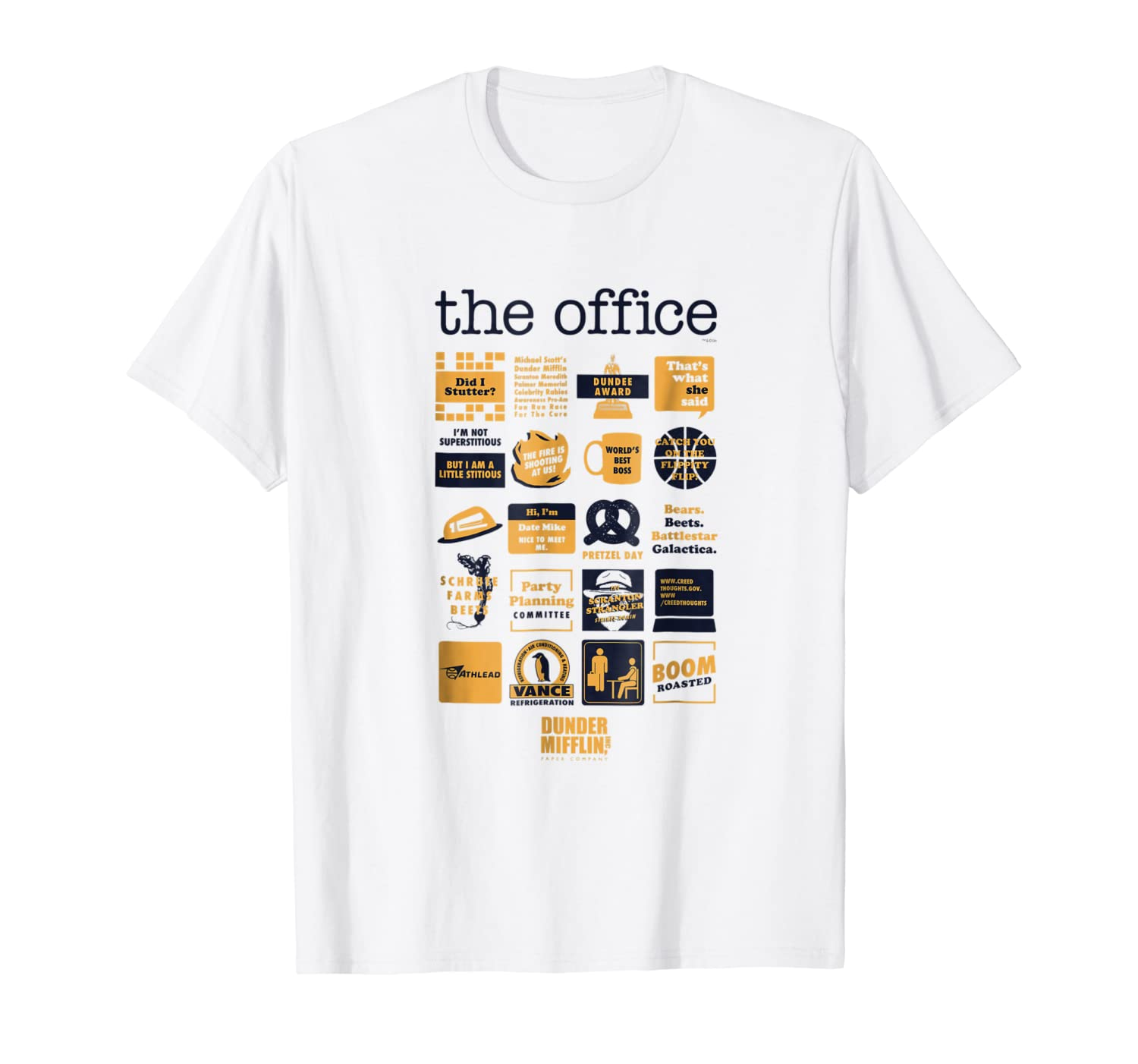 6e362cbe9 Amazon.com: The Office Quote Mash-Up Funny T-Shirt - Official Tee: Clothing