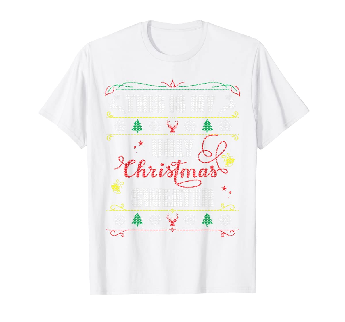 This Is My Ugly Christmas T-Shirt-Men's T-Shirt-White